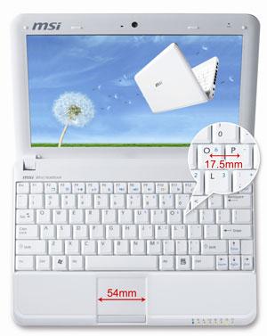 MSI ноутбуки >> Продукция >> Нетбук MSI U100